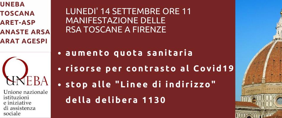 Toscana – Stato di agitazione nelle Rsa, lunedì 14 manifestazione a Firenze