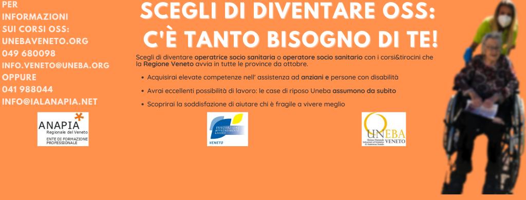 In Veneto c'è bisogno di OSS – Le iniziative di Uneba Veneto, Pia Opera Ciccarelli, Opera Immacolata Concezione