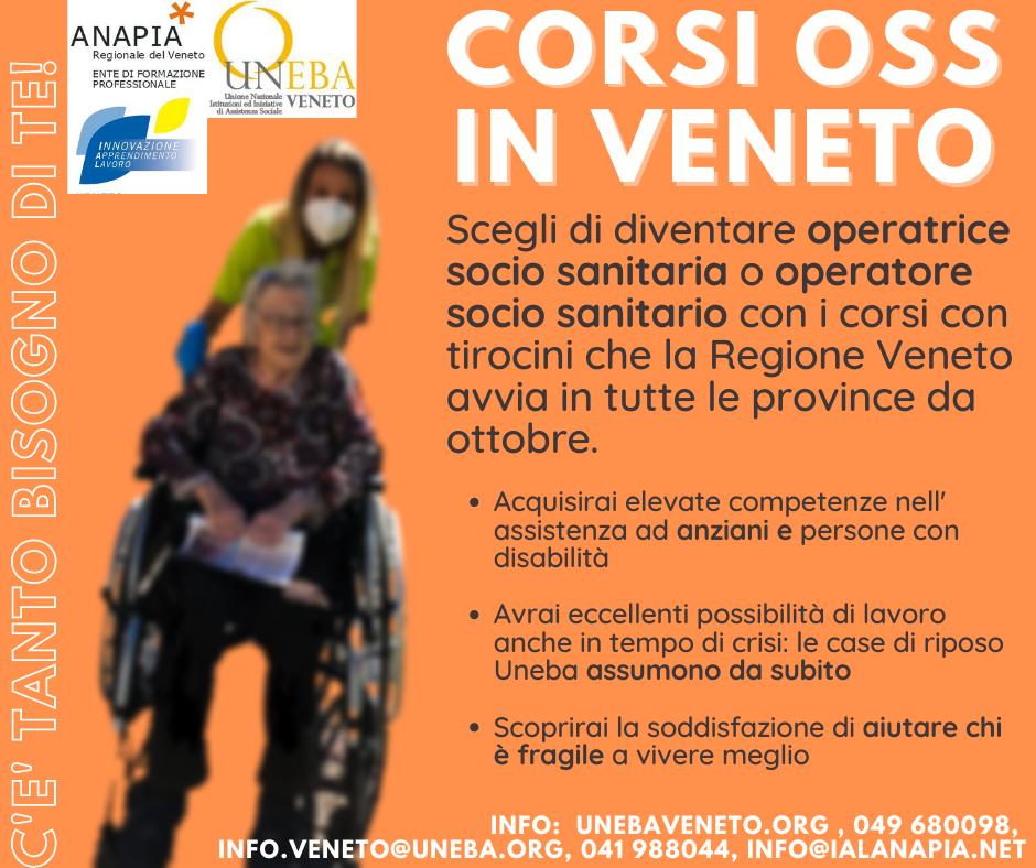 Corsi Oss in Veneto – C'è tanto bisogno di te!