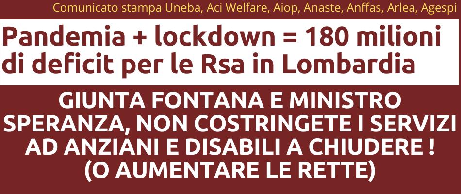 Lombardia – RSA e ADI in crisi dopo la pandemia, appello a giunta Fontana e ministro Speranza