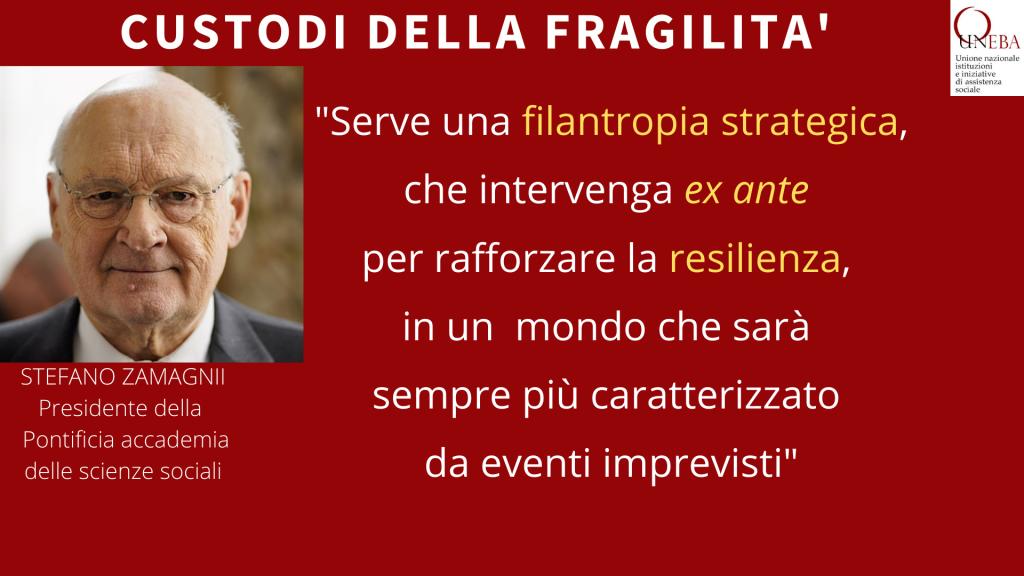 Il professor Zamagni agli enti Uneba: I volontari devono sentirsi importanti per la causa, anche nella progettazione degli interventi
