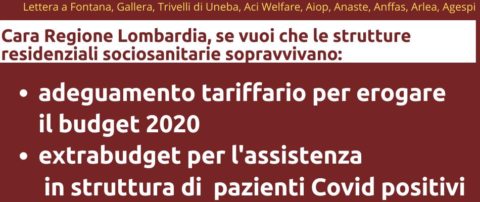 Lombardia – Enti del sociosanitario allo stremo, 7 associazioni scrivono a Fontana e Gallera