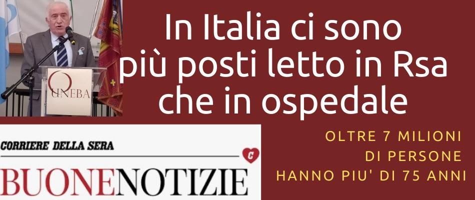 Uneba sul Corriere della Sera dà voce all'impegno delle strutture per anziani contro il Covid19