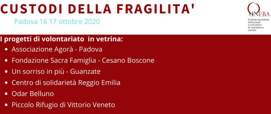 Ecco le buone pratiche di volontariato nel sociosanitario che saranno presentate al convegno Uneba di Padova