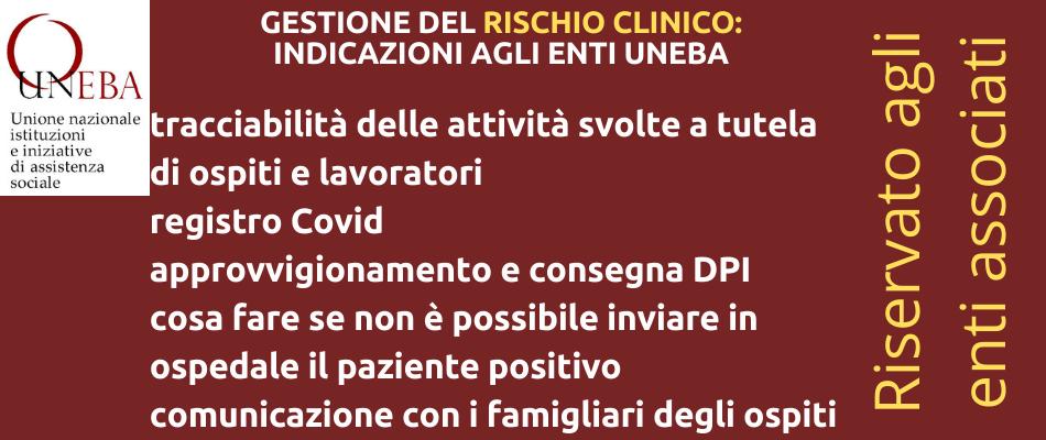 Covid19 – Gestione del rischio clinico in strutture sociosanitarie