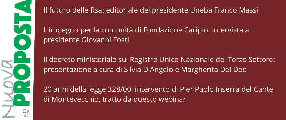 Nuova Proposta – 70 anni di Uneba, intervista a Maurizio Giordano