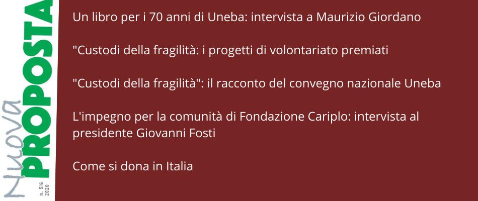 Nuova Proposta: intervista a Giordano sui 70 anni di Uneba