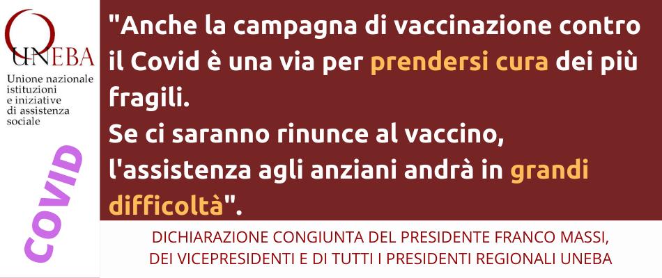 Uneba: per i lavoratori delle Rsa il vaccino anti Covid è un alleato, auspichiamo che tutti aderiscano