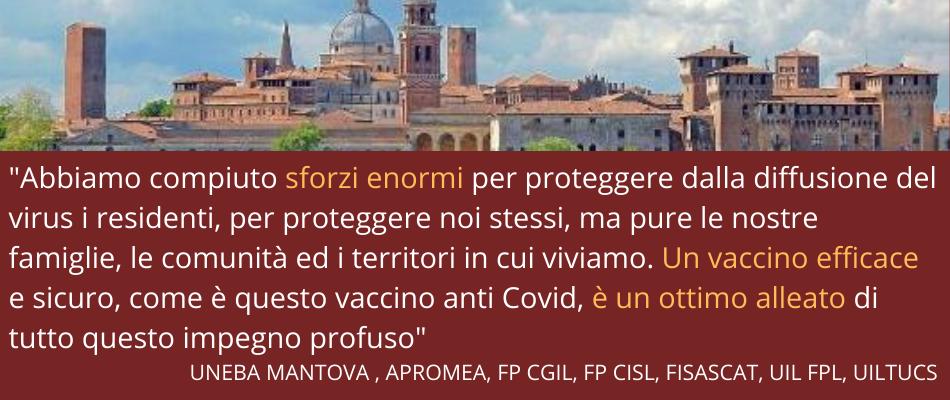 Mantova | Appello Uneba – Apromea – sindacati ai lavoratori: dite sì al vaccino anti Covid