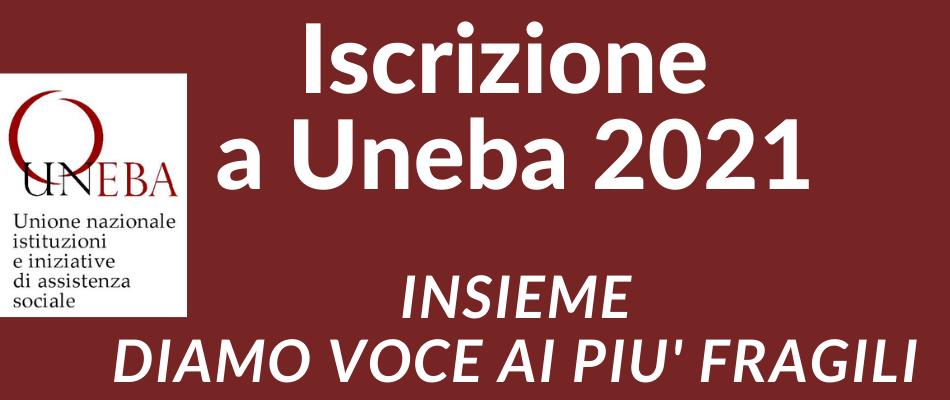 Iscrizione a Uneba – anno 2021