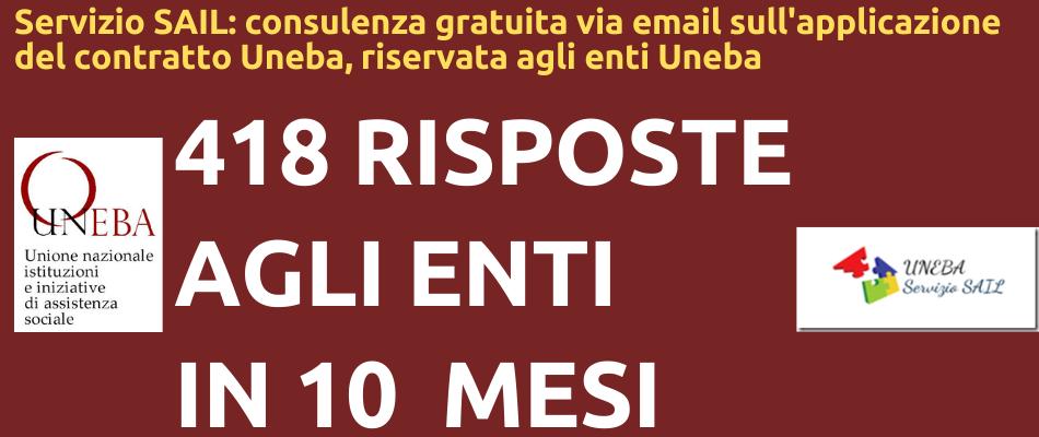 418 consulenze sul contratto Uneba in 10 mesi: il servizio SAIL per chi si iscrive a Uneba