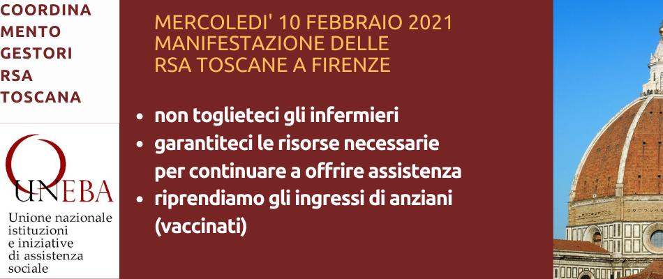 Toscana – Rsa in agitazione, manifestazione il 10 febbraio