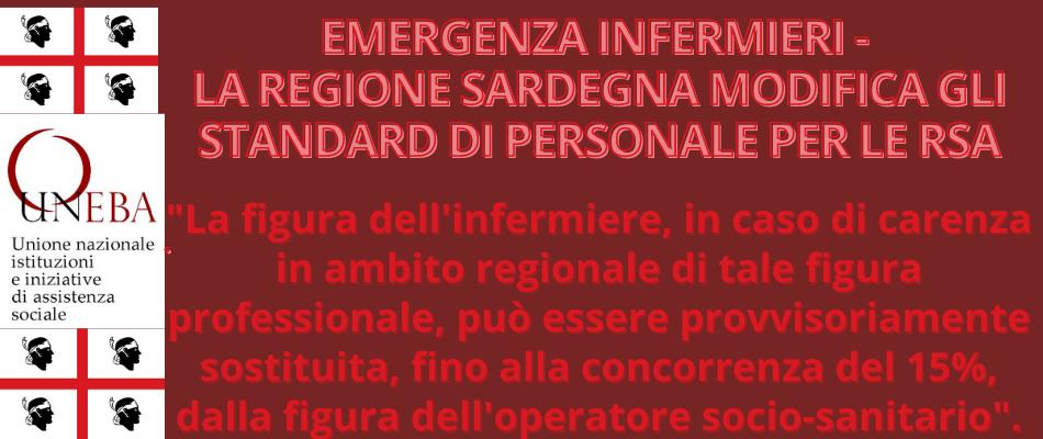 Sardegna- Se mancano infermieri, più Oss nelle Rsa