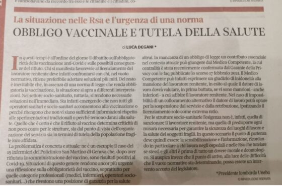 vaccinazione covid degani corriere