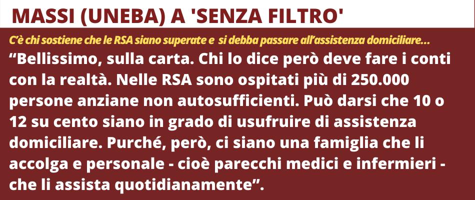 L'emergenza infermieri e i pochi posti letto in Rsa – Massi a SenzaFiltro