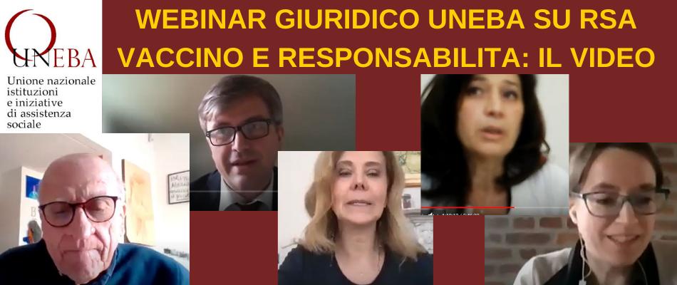 Covid, vaccinazione, responsabilità: video dello webinar giuridico Uneba