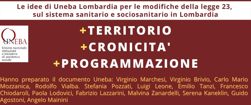 Territorio, programmazione, cronicità le parole d'ordine per il futuro del sociosanitario in Lombardia