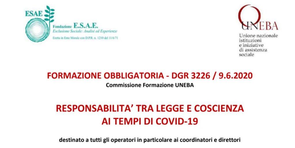 La responsabilità per coordinatori e direttori, corso di formazione Uneba Lombardia