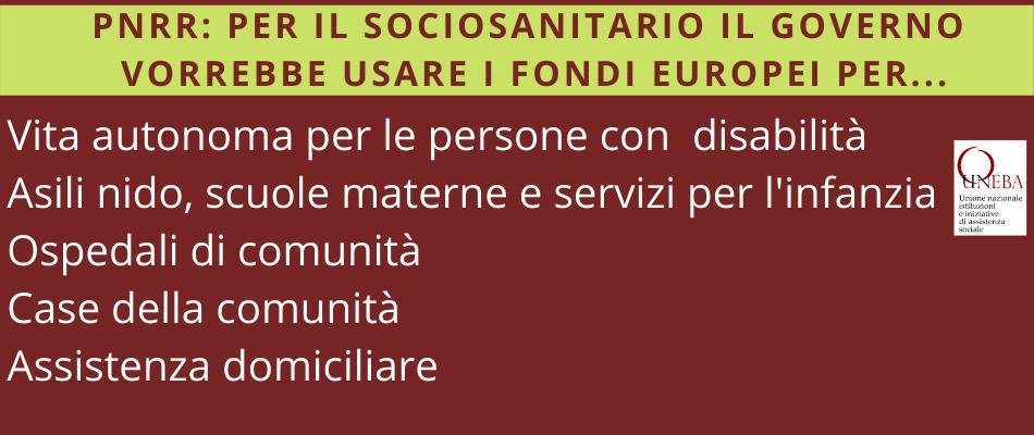 PNRR Italia: per sociosanitario e assistenza quali investimenti?