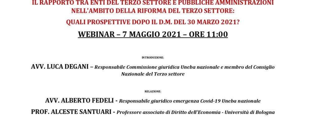 Terzo Settore e Pubbliche Amministrazioni: webinar con Fedeli e Santuari