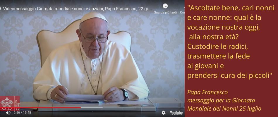 25 luglio Giornata dei Nonni: il messaggio di Papa Francesco