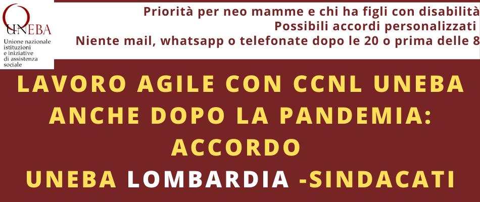 Lavoro agile – Accordo quadro Uneba Lombardia & sindacati