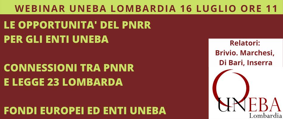 PNRR e riforma della Legge 23, webinar Uneba Lombardia