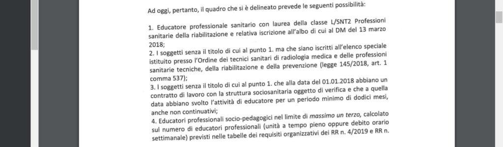 Puglia – I requisiti per gli educatori nelle strutture sociosanitarie