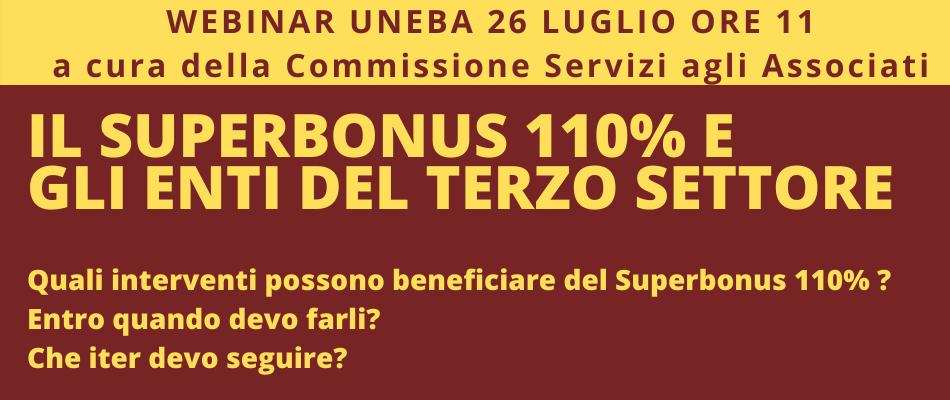 Superbonus 110% per enti Terzo Settore – Webinar Uneba