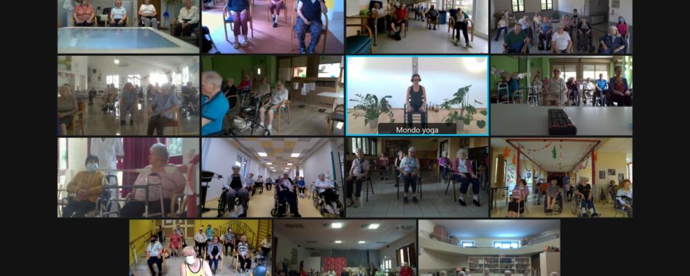 Yoga per anziani nelle Rsa Uneba grazie a Fondazione Amplifon