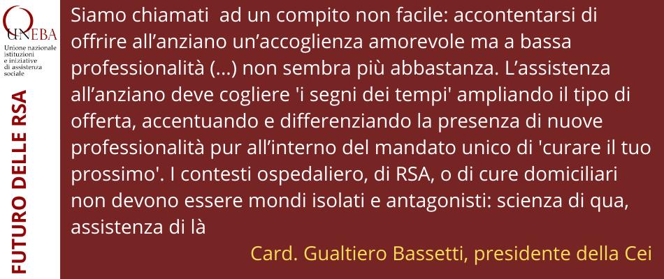 Sposare scienza e assistenza nella cura dell'anziano – Convegno Auxologico con il card.Bassetti