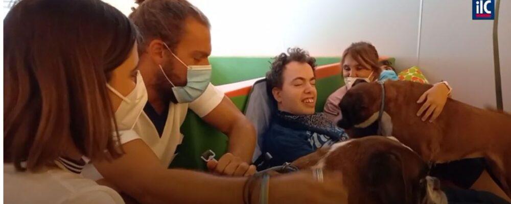 Cani salvati diventano protagonisti di IAA con persone disabili alla Fondazione Danelli