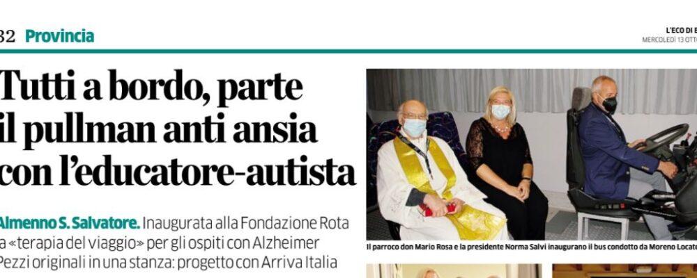 Lombardia – Terapia del Viaggio alla Fondazione Rota per i malati Alzheimer