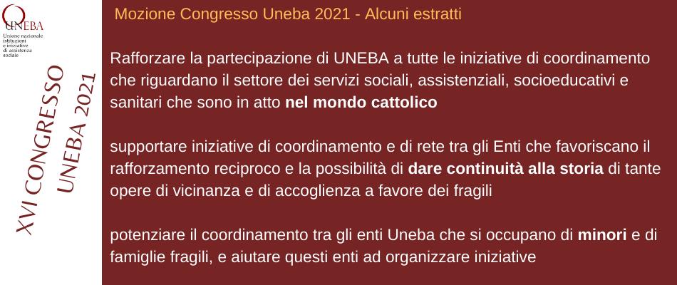 Congresso Uneba 2021 – La mozione approvata